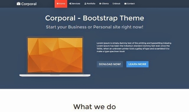 Corporal Onepage Business Theme