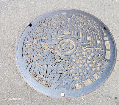manhole cover, Japan