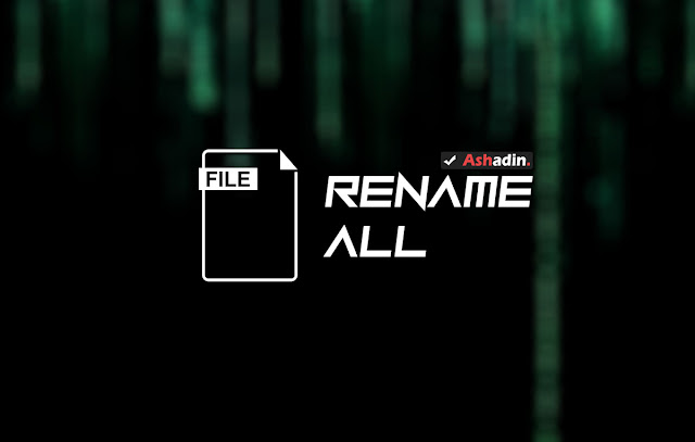 Cara Rename File sekaligus dan berurutan