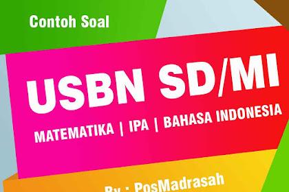 Download Soal USBN Kelas 6 Tingkat SD/MI Lengkap