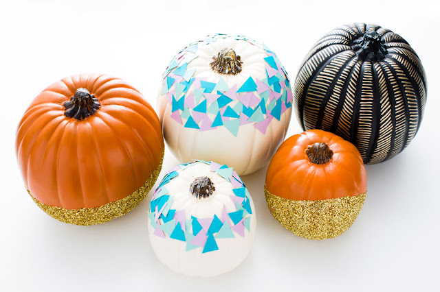 If you don't like the idea of small children using sharp knives or you want to avoid the mess of carving, painted pumpkins are a great alternative.