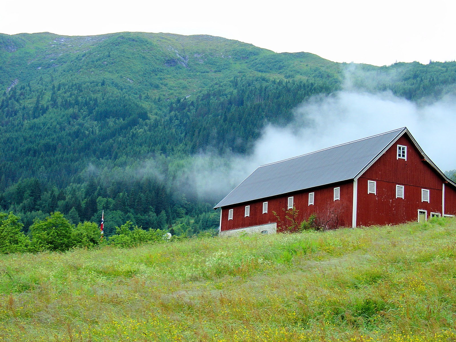 The idyllic countryside of Balestrand, Norway. Photo: EuroTravelogue™. Unauthorized use is prohibited.