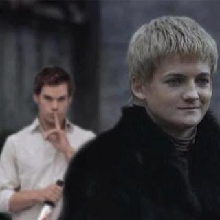 Meme de humor sobre Dexter y Juego de tronos