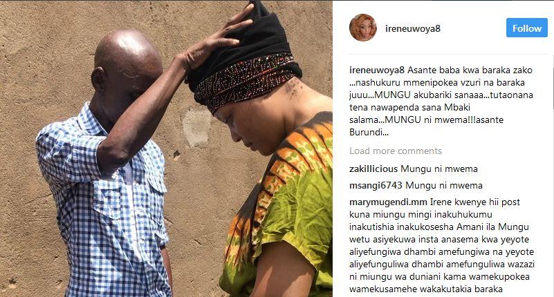 Irene Uwoya Aondoka na Baraka Zote Kutoka kwa Baba Mzazi wa Marehemu Ndikumana  Aagwa kwa Maombi