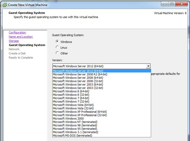 Archyver Homelab: Creating a virtual machine (vm) on ESXi