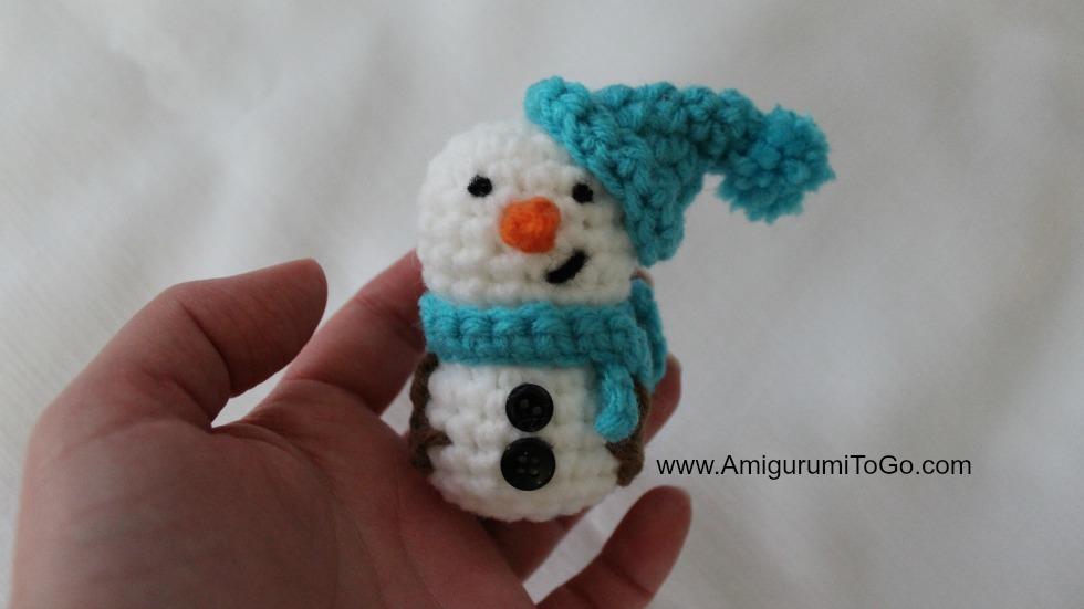 Amigurumi Snowman : Amigurumi snowman ornament amigurumi to go
