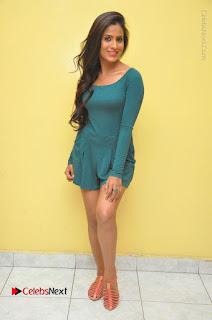Telugu Actress Prasanthi Stills in Green Short Dress at Swachh Hyderabad Cricket Press Meet  0131.JPG