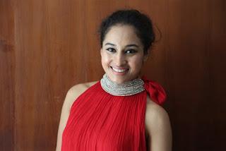 Actress Pooja Ramachandran Pictures in Red Sleeve Less Salwar Kameez at Kalam Movie Trailer Launch  0022.jpg