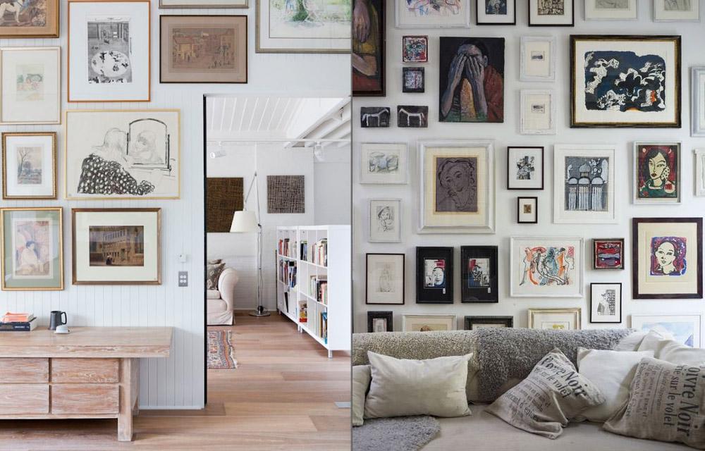 Una galleria d arte in casa stampe e litografie a portata for Stampe arredo casa