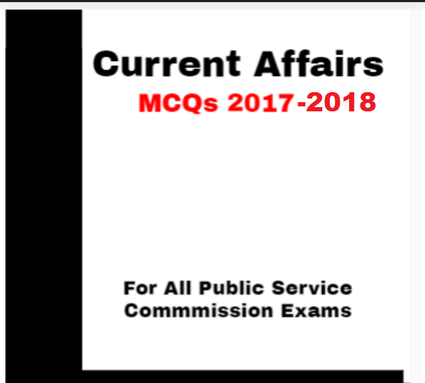 Current Affairs MCQs Book 2019-2020 free Download PDF