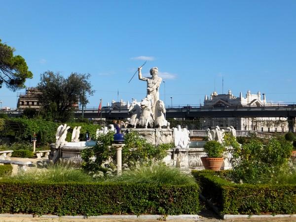 gênes genova villa dep principe jardins fontaine