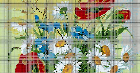 Cross Stitch Pattern - Printout Stitch Display