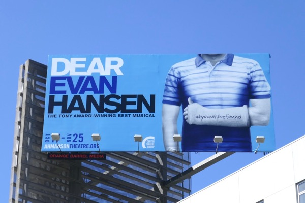 Dear Evan Hansen LA billboard