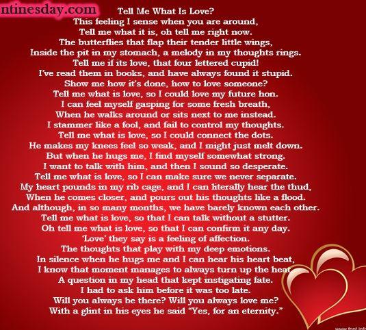 Valentine poems for girlfriend
