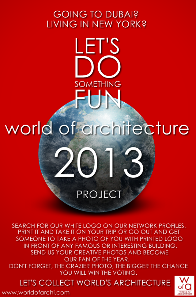 Flyer for the world of architecture showing tips and rules how to do it