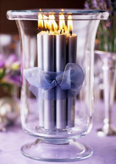 centros mesa bodas con velas