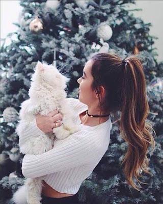 pose tumblr con mascota navidad