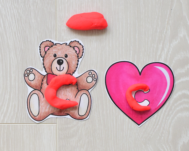 Valentine's Day DOUGH MATS FOR FORMING LETTERS
