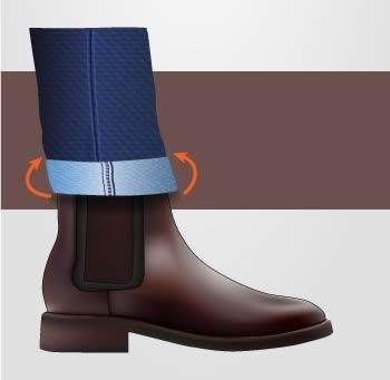 Como dobrar a barra da calça corretamente?