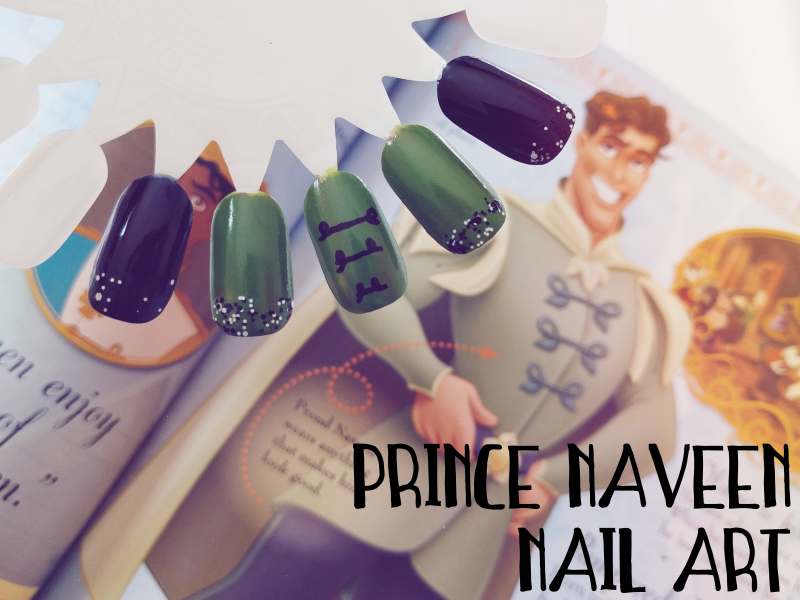 Disney nail art collab prince naveen the princess and the frog i ended up missing last months disney nail art collab as i was moving housetownsjobs phew but im catching up this month with my nail design for the prinsesfo Images