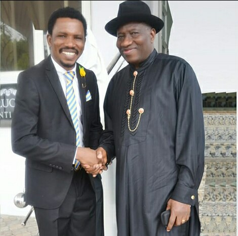 Man Who Opposed GEJ In 2015 Visits Him, Begs For Forgiveness