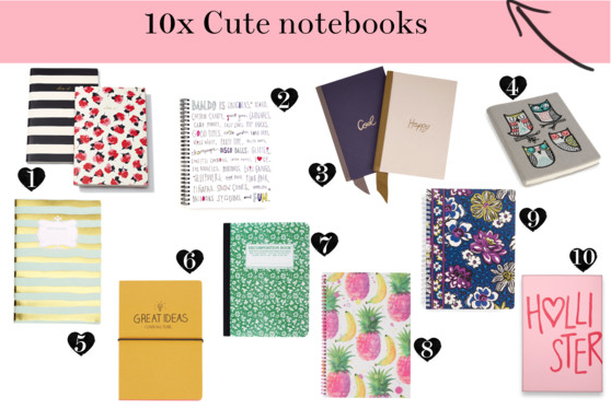 back to school shopping cute notebooks