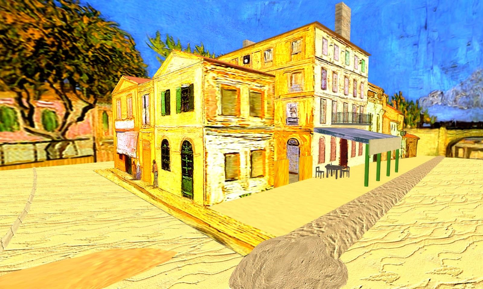 """Echt Virtuell UWA 3D Art """"Das gelbe Haus"""" von Vincent"""