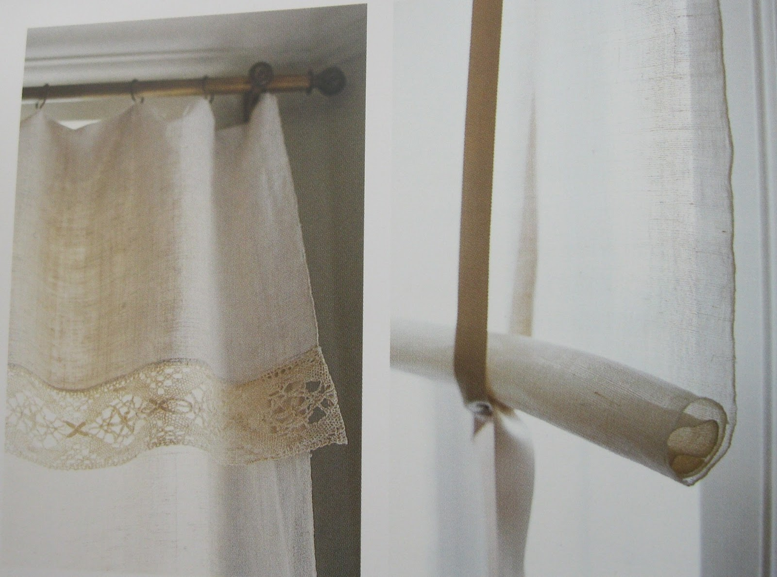 Linge ancien estores y cortinas visten y resaltan - Como hacer estores ...