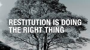 restitution is doing the right thing