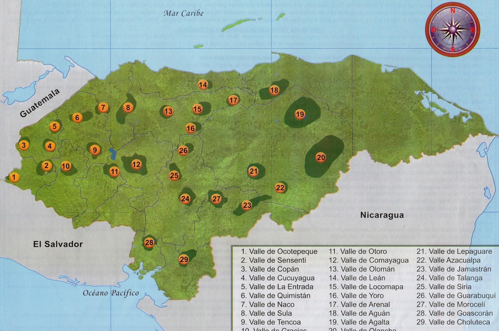 HONDU TAREAS LAS TAREAS DE HONDURAS Los 7 valles ms importantes