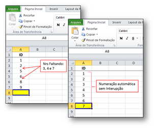 Numeração Automática, VBA, Excel, Macro