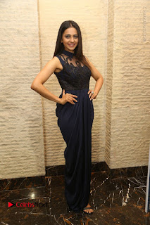 Actress Rakul Preet Singh Stills in Beautiful Blue Long Dress at Dhruva Salute to Audience Event  0109.JPG