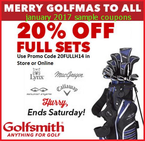 Golfsmith discount coupons