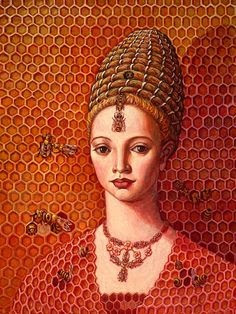 FIGURAS VESTIDAS DE PANAL - FIGURES DRESSED OF HONEYCOMB.