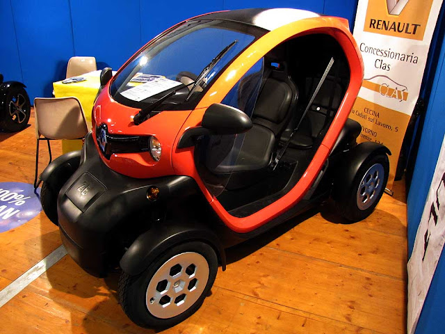 Renault Twizy electric car, Tuttovela village, Livorno