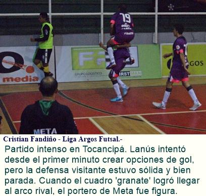 Lanús y Deportivo Meta dividieron puntos