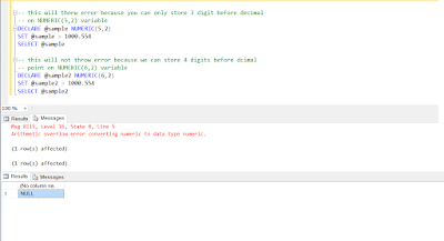 Arithmetic overflow error converting numeric to data type numeric in SQL Server
