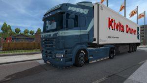 Kivits Drunen skin + trailer for Scania RS