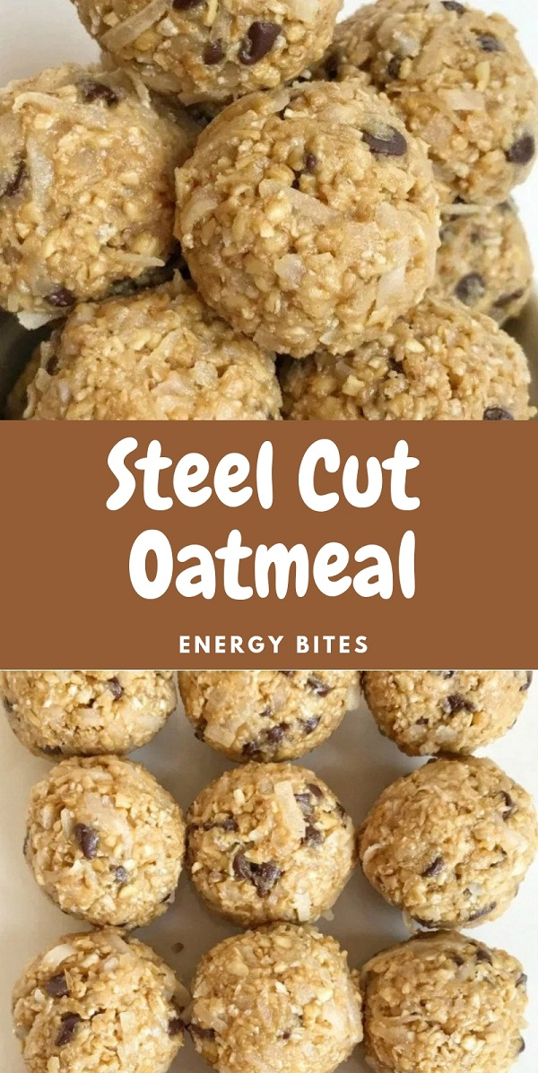 Steel Cut Oatmeal Energy Bites