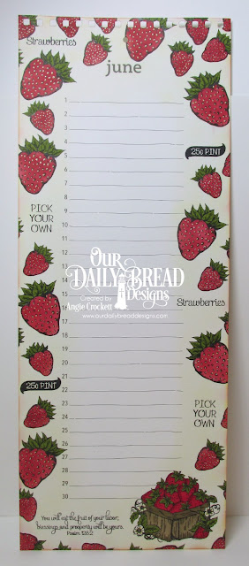 ODBD Strawberries, ODBD Strawberries and Pickles, Calendar Page Designed by Angie Crockett