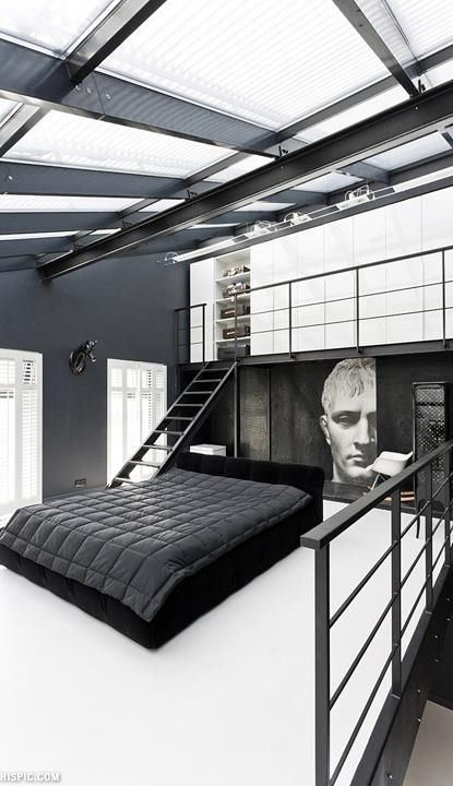 modern loft bedroom design