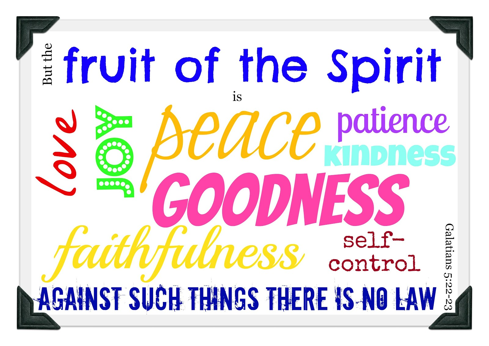Grow The Fruit Of The Spirit Is Love