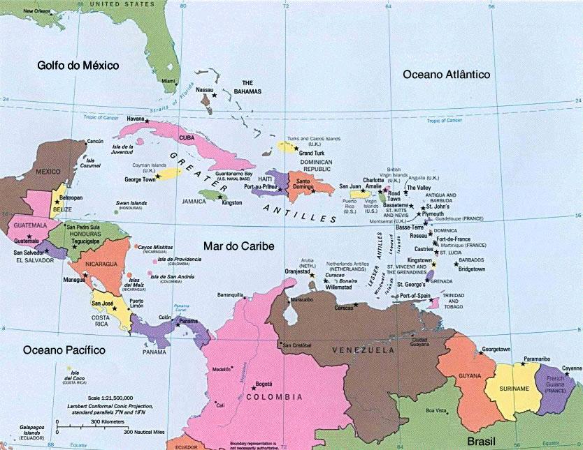 América Central, Aspectos Geográficos da América Central