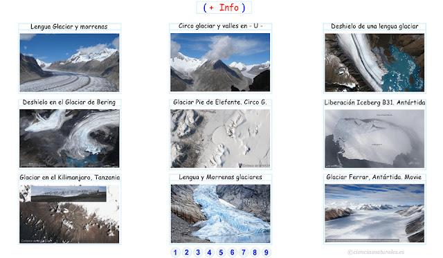 Enlace con Imágenes del  Modelado Glaciar