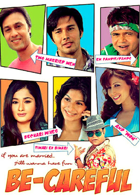 Poster Of Bollywood Movie Be-Careful (2011) 300MB Compressed Small Size Pc Movie Free Download worldfree4u.com