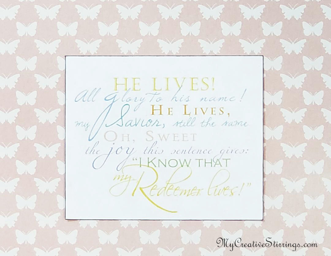 There are many religious Easter quotes that would be perfect for this gift. Check out Lds.org's free media library for more.