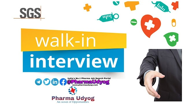 SGS India Pvt. Ltd | Walk-In Interviews for Lab Chemist | 28 to 30 August 2019 | Chennai