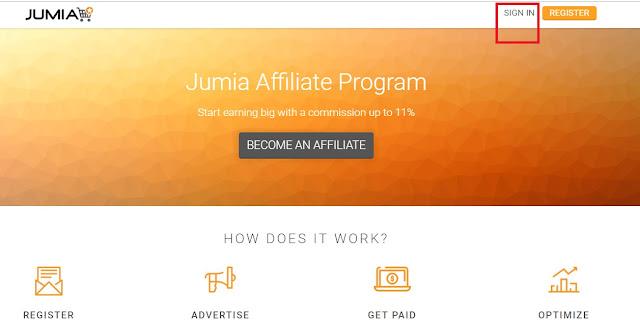 Jumia affiliate signin