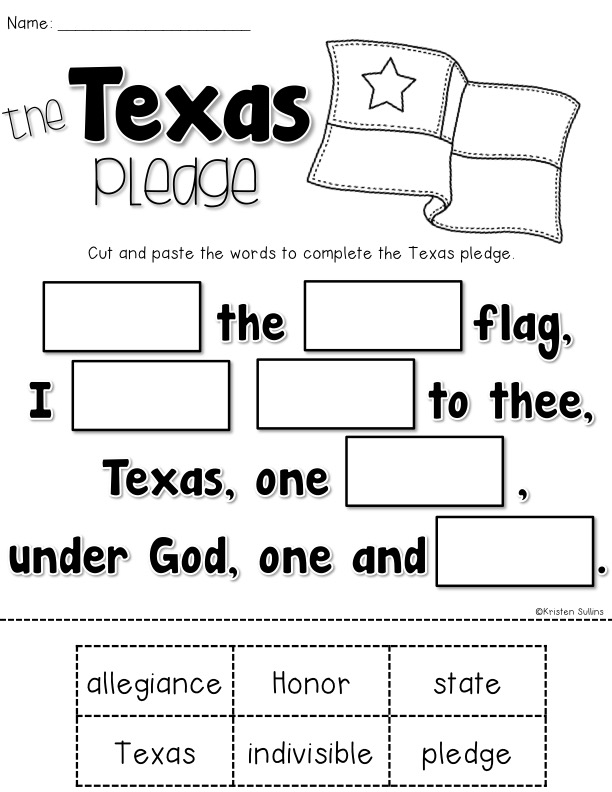 I Pledge Allegiance The US Pledge for Young Learners Where – Pledge of Allegiance Worksheet