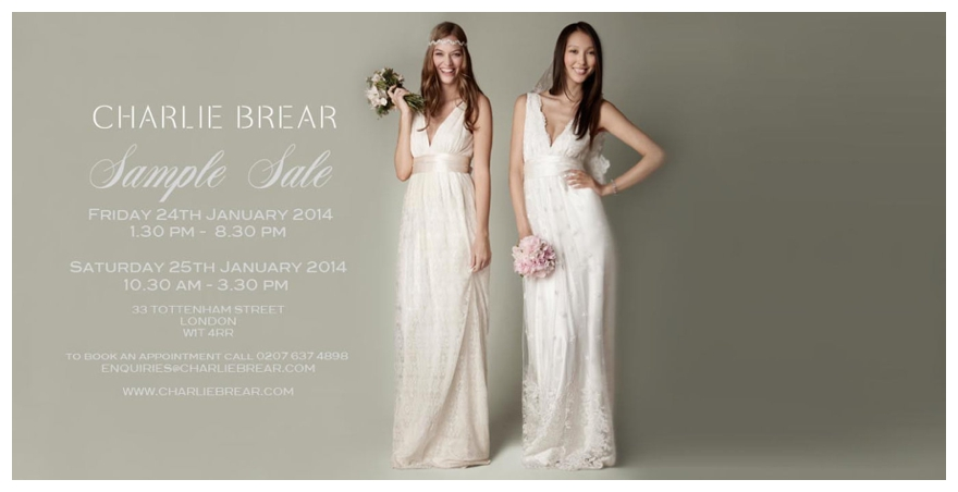 We Charlie Brier Vintage Wedding Dress Sample Sales